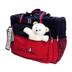 Baby Scots Large Diaper Bag/ Tas Perlengkapan Bayi Bordir Boneka Besar - ISEDB011