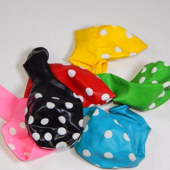 Balon Latex Polkadot Mix 10 pcs (Warna Random) by difie toys