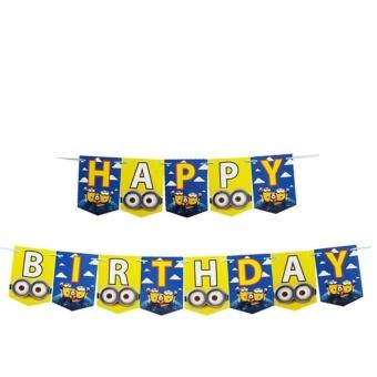 Banner / Bunting Flag Happy Birthday Motif Minion