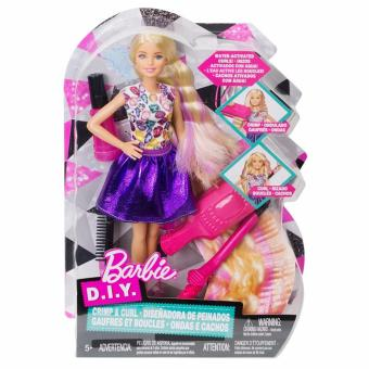 Barbie(R) D.I.Y. Crimps & Curls Doll