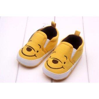 Bayi laki-laki sepatu anak perempuan pertama Walkers lucu kuning beruang 0-12 bulan kuning S - 2