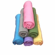 BAYIE - Bedong Bayi Kaos PIN-PIN isi 6 pcs/Selimut Bayi/Alas bayi/Alas kereta/perlengkapan bayi Warna (biru, ungu, kuning, grey, hijau, pink)
