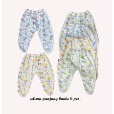 BAYIe - Celana Panjang Bayi Buntu Melody isi 6 pcs umur 0-6 bulan/celana santai/celana rumah/anak laki-laki/a