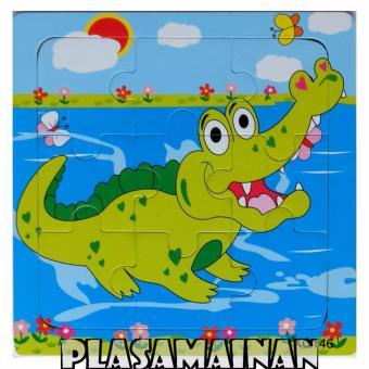 BB Mart Puzzle Kayu Hewan 15 x 15 QX146 - Mainan Kayu BinatangBuaya. >>>>