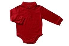 Bearhug Bodysuit Bayi Laki-laki 6-24M Polos Berkerah - Merah