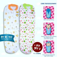 Bedong Bayi Instan BABY LEON New Born 2Pcs 100 % COTTON berkerah BC-102 - Mix Colour