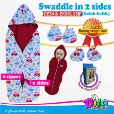 Bedong Instan Bolak Balik + Sarung Tangan & Sarung Kaki Bedong Untuk Bayi Bedong Anak Bedong Lucu Bedong Bayi Bedong Murah - Merah - BN003