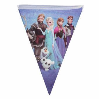 Bendera Pesta Bunting/Bunting Flag Segitiga Kartun Frozen -BD-FC01S
