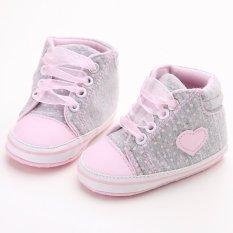 Berwarna Merah Muda Balita Panas Bayi Baru Lahir Kanvas Lembut Was The Only One Mengenakan Sepatu Flat Cewek Sepatu Bayi Laki-laki -pria Yang Berjalan S1615