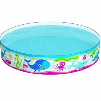 Bestway Fill & Fun Pool (Ikan Paus) 122cm. Kolam Renang Anak Tanpa Tiup Pompa Angin - 2