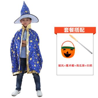 Bintang lima Halloween perempuan perempuan penyihir penyihir jubah jubah