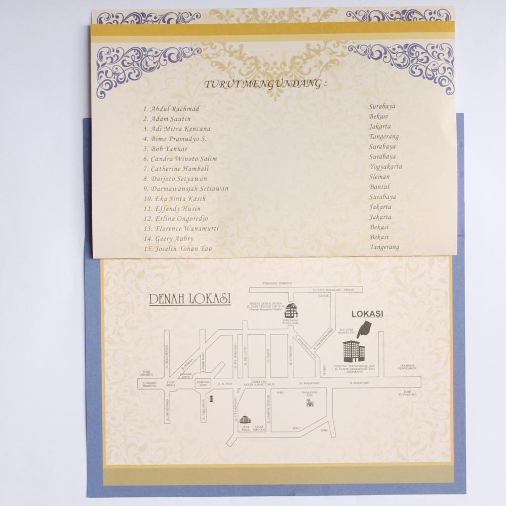 Kartu Undangan Lipat 2 Motif Sophia Daftar Harga Terlengkap Kode Blangko 88187 Nikah Model Amplop Isi 100 Murah