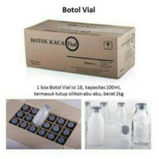 Botol Asi Kaca Vial 120ml - 18pc
