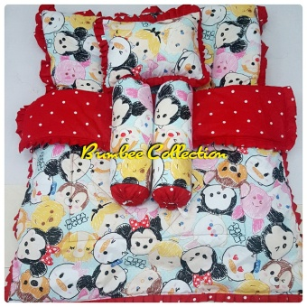 Bumbee Collection Set Kasur Bayi Motif Tsumtsum - Merah