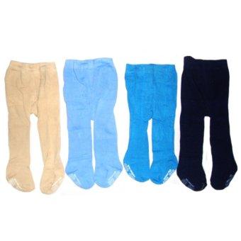 Catton Rich Paket 4in1 Legging Bayi Tutup Kaki Mix Colour 0-12 Months - Legging Untuk Bayi Celana Panjang untuk Bayi Legging Anak Legging Lucu Legging Unik
