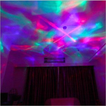 Color Changing Aurora Projection LED Night Light Lamp with Speaker,Relaxing Light Show for Kids and Adults, Decorative Light, BabyNursery Kids Bedroom Living Room Night Light (White) - intl - 5