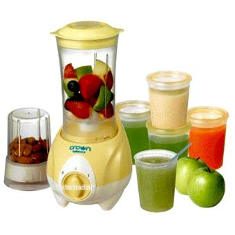 Crown Wet and Dry Multifunction Food Processor - Kuning