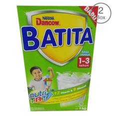 DANCOW BATITA Nutri TAT Vanila Susu Pertumbuhan 1-3 Tahun Box 1kg - Bundle Isi 2 Box