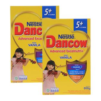 Dancow Excelnutri 5+ Usia 5-12 tahun - Vanila - 800gr - Bundle isi