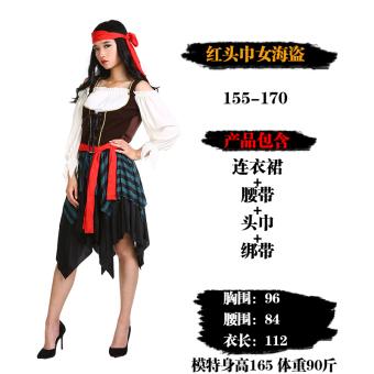 eozy dewasa unisex fashion desain pakaian jubah berkerudung cape bajak laut halloween kostum topi ditetapkan dengan
