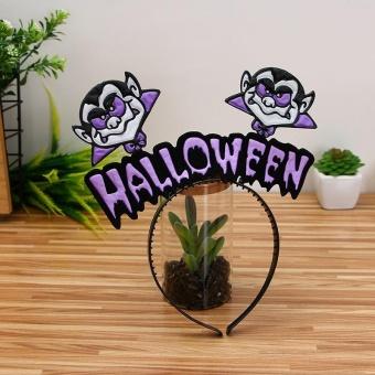 HARGA Diotem Halloween Hair hoop pumpkin Witch hair Hoop – E – intl TERLARIS