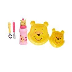 Disney Winnie the Pooh Feeding Set Pink Bottle