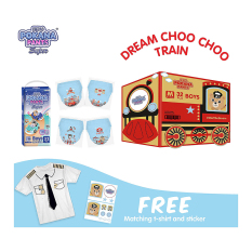 [DREAM TRAIN BOX] Pokana Super Pants Boy M32 isi 4 + FREE Matching T-shirt and sticker