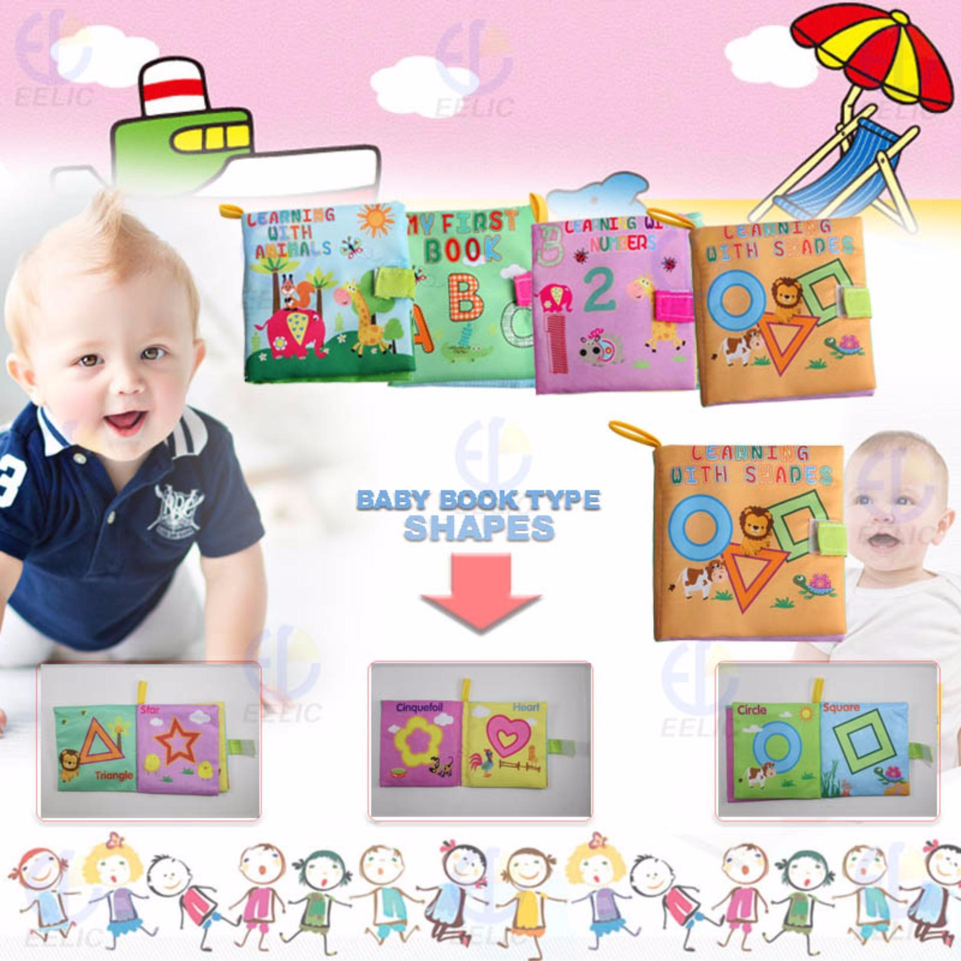 EELIC AYI BU05 SHAPES BABY BOOK MAINAN BUKU BAYI KAIN