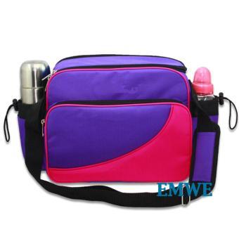 EMWE Baby Bag Mini tas slempang perlengkapan makan botol susu bayi Tas selempang Tempat Makan Bekal Anak Lunch Baby Box Bag 2in1 - Ungu - 2