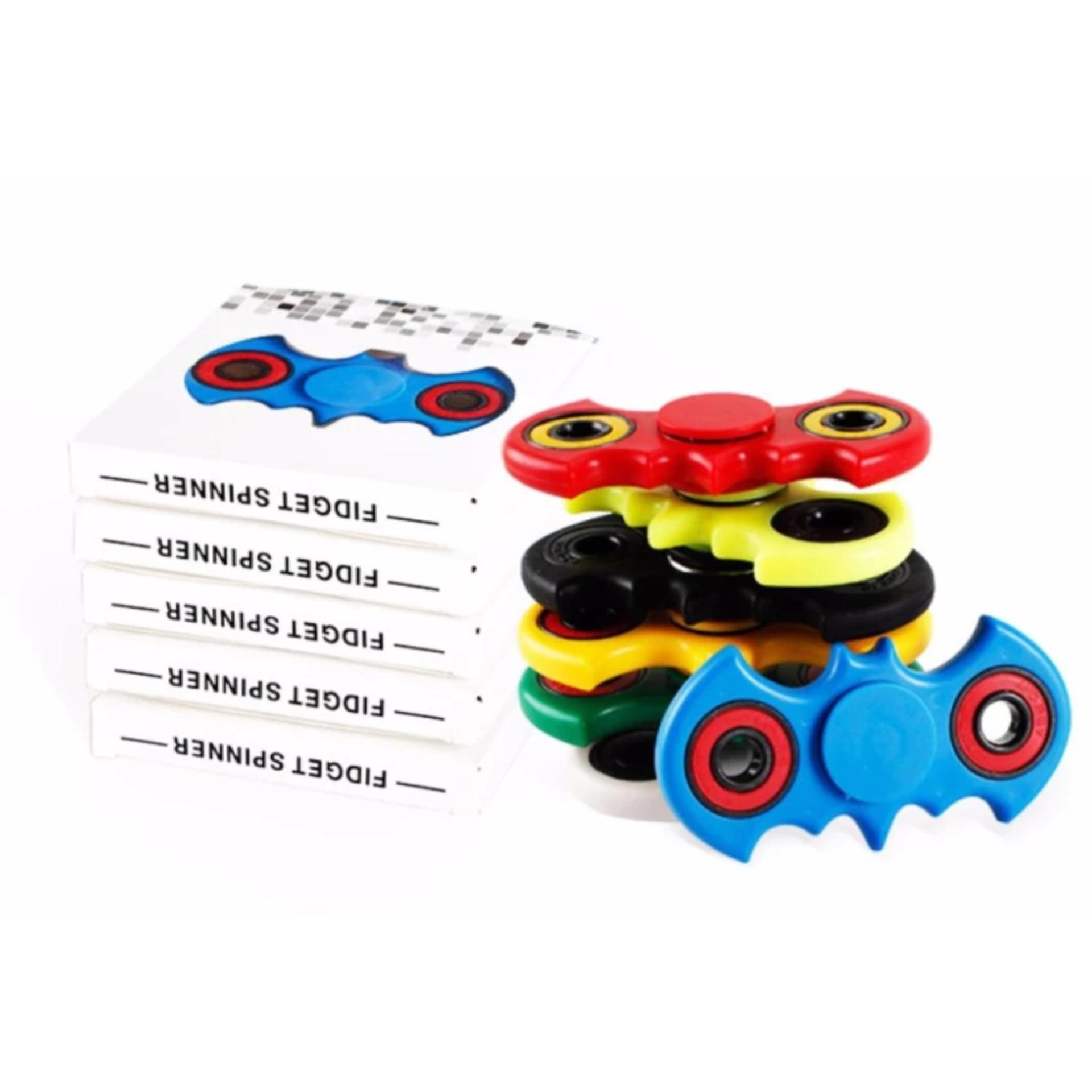 Fidget Spinner Bat-man Hand Toys Mainan EDC Ceramic Ball Focus Games Bartman - Putih