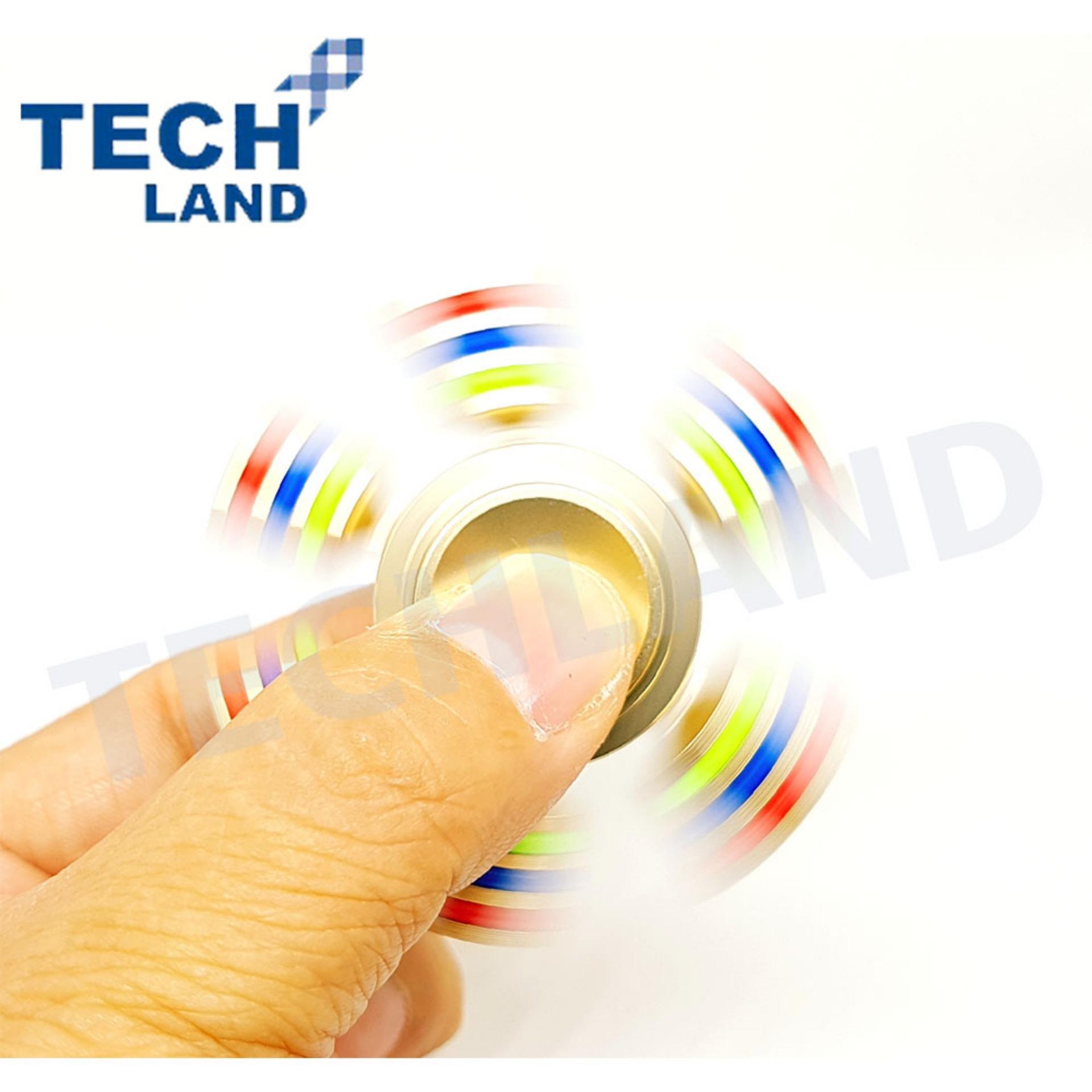 Fidget Spinner Hand Techland Premium Quality Brass Hybrid Triangle Bearing Keramik Ceramic Toys Focus