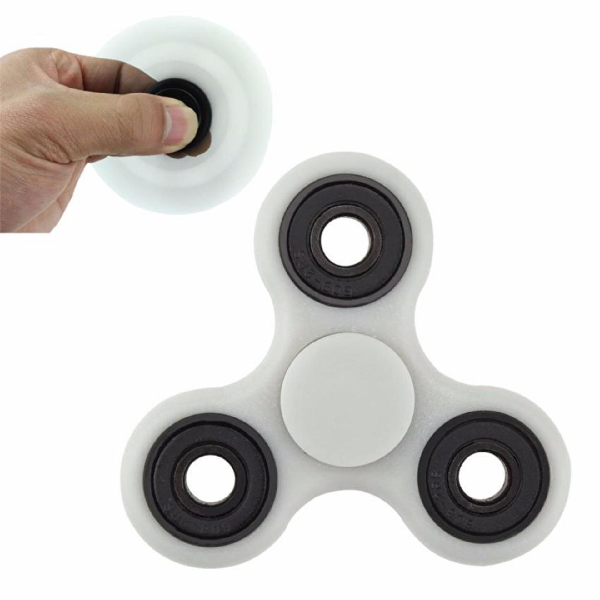 Fidget Spinner Hand Toys Mainan Tri-Spinner EDC Ceramic Ball Focus Games .