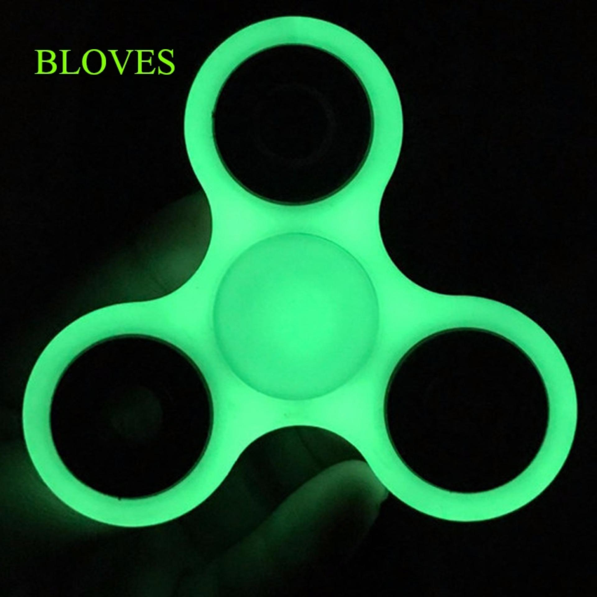 Fidget Spinner Rubber Glow in the Dark Hand Finger Toys for Focus Anxiety & Stress Relief ...