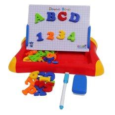 First Classroom - Mainan Eduka - Edukasi Anak - Magnetic Learning Case Drawing Board - Merah