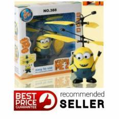 Flying heli / helicopter Quadcoper Drone Sensor Tangan Toy Mainan Anak Terbang - Minion - Babamu