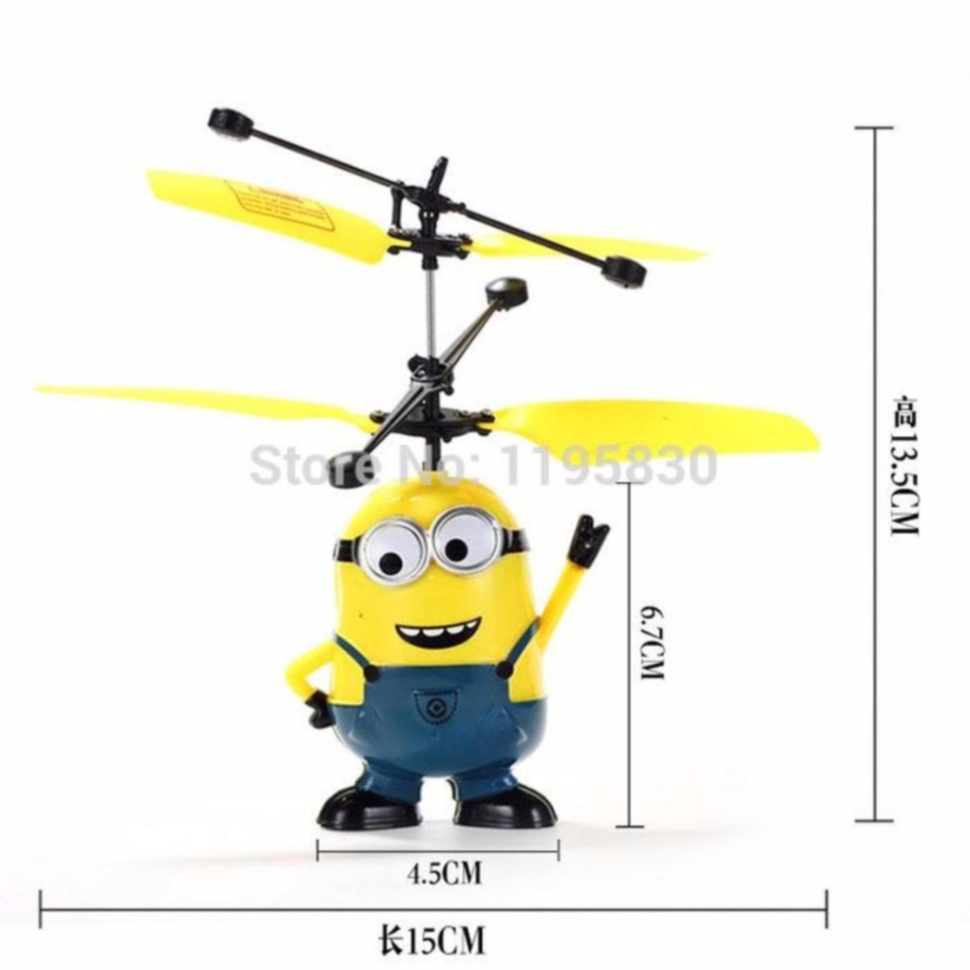 Flying Toy - Mainan Anak Terbang - sensor tangan - Karakter MINIO .