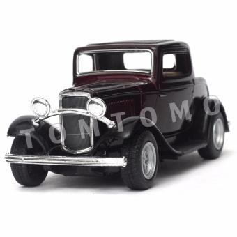 Ford 3 Window 1932 Coklat - Diecast Miniatur Mobil Mobilan Klasik Antik Kado Mainan Anak Cowok