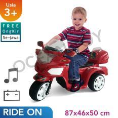Free Ongkir Se-Jawa Ocean Toy Yotta Ride On Motor Aki Halilintar Mainan Anak - Red