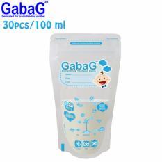 Gabag New Breast Milk Storage - Kantong ASI 100 ml Isi 30 Pcs (Biru)