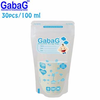 Gabag New Breast Milk Storage - Kantong ASI 100 ml Isi 30 Pcs (Biru)
