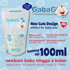 GABAG Plastik ASI 100ml - Breastmilk Storage Bag - Kantong Asi - Kantung Asi - biru