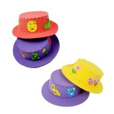 GDS Cute Creative Handmade Eva Sun Cap Topi DIY Kerajinan Mainan Anak-Intl