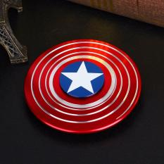 Great Fidget Hand Spinner Metal Captain Amerika Limited Edition - Red Blue