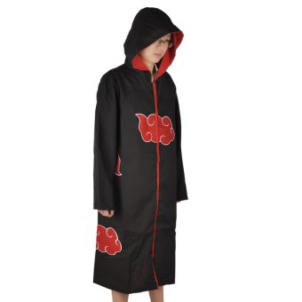 Halloween Japanese Anime Naruto Cosplay Jacket Costumes Naruto Ninja Shirt Clothing Akatsuki Uchiha Itachi Costume Accessories (Size: M)