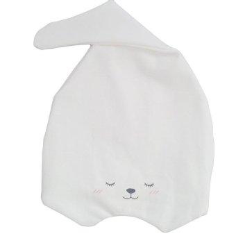 Hang-Qiao Toddler Newborn Baby Cute Bear Boy Girl Sleep Beanies HatSoft Warm Cap White