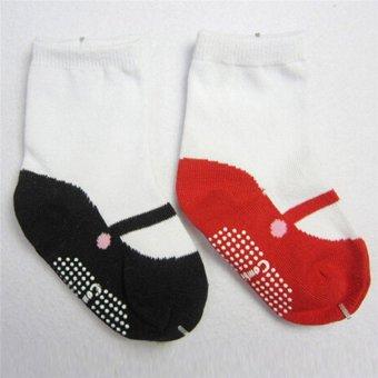 Hanyu bayi perempuan antislip kaus kaki hangat mengentalkan percaMerah - International - 3 .