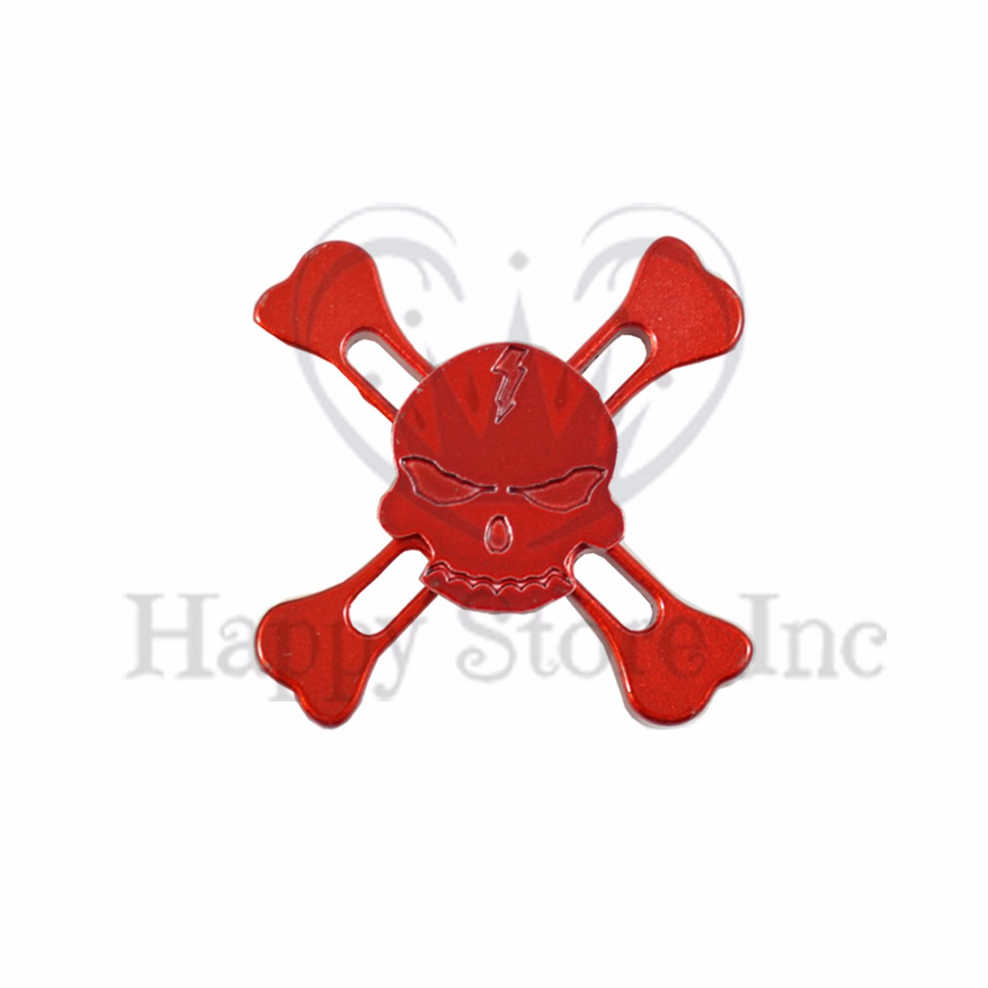 Happy Fidget Hand Spinner SKULL Tengkorak Hand Toys Focus Games / Mainan Spinner .