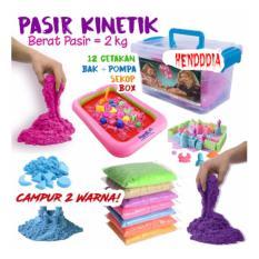 henddia Paket Pasir Kinetik 2 KG + Aksesoris - Kinetic Play Sand Mainan Edukasi