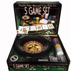 Hoshizora 5 in 1 Game Set - Roulette - Poker - Black Jack - Craps -