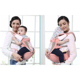 Harga Mambobaby 2017 Baby Carrier with Hip Seat with Uniquel prints (Pink)